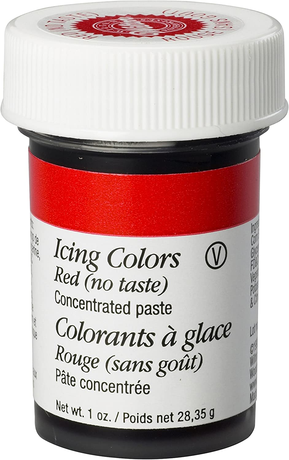 Wilton No-Taste Red Icing Color, 1 oz. - Red Food Coloring