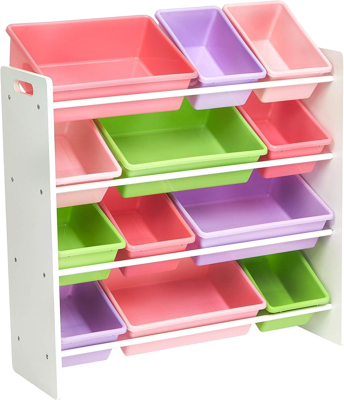 Amazon.com: Amazon Basics Kids Toy Storage Organizer Bins - White