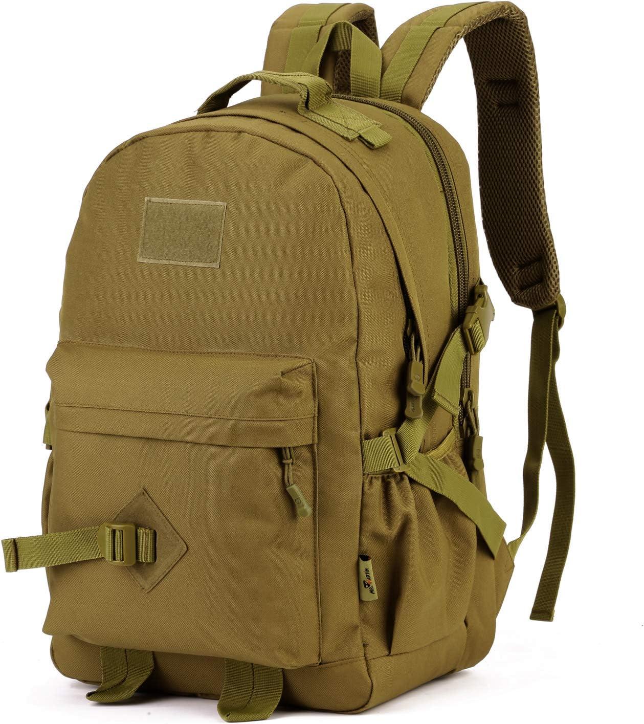 Yakmoo Sac /à Dos 40L de Multifonction Tactique Militaire Backpack Imperm/éable Molle Syst/ème Rucksack Sac /étudiant en Nylon /à lAir Libre
