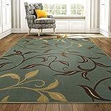 Ottomanson Otto Home 现代树叶设计现代地毯