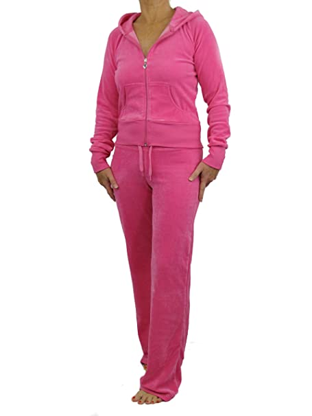 9bcc4e517a8 Love Lola® Womens Velour Tracksuits Ladies Full Luxury Lounge Suits Hoodys  Joggers Heart Designer Inspired  Amazon.co.uk  Clothing