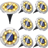 8-Pack Biling Solar Powered Waterproof LED Pathway Lights
