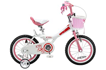 0cc4d3e5716a Royalbaby Jenny Princess Pink Girl's Bike with Training Wheels and Basket,  for Kids, 12