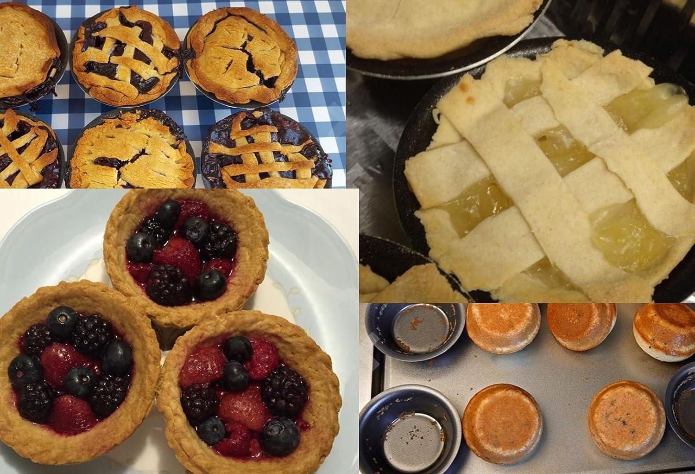 Paquete de 12 moldes pastel Nata ,brioche, magdalenas,Muffins ,Pate individuales, souflé, pasteles y Puds | antiadherentes de 8 cm: Amazon.es: Hogar