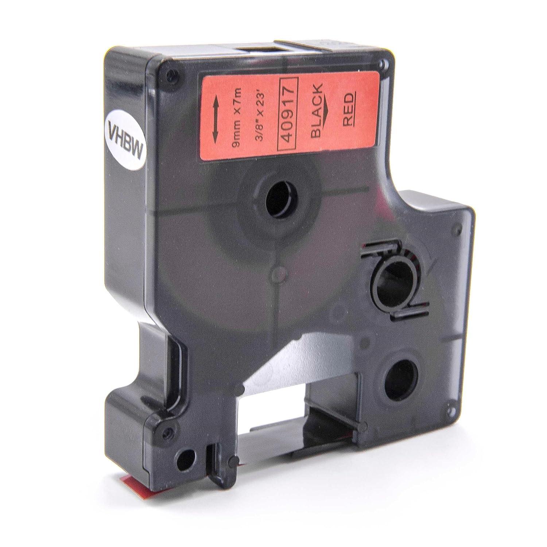 Cassette à ruban vhbw 9mm pour Dymo LabelMaker PC, PC2, Dymo 1000, 1000+, 2000, 3500, 4500, 5000, 5500 . Remplace: Dymo D1, 40919. VHBW4251004673813