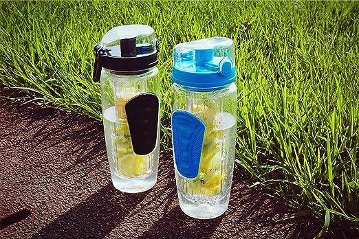 Botella de Agua de Tritan de 1 Litro con Infusor de Frutas sin BPA, Botellas de Agua Deportiva Reutilizable de Plastico con Filtro Protector Libre de ...