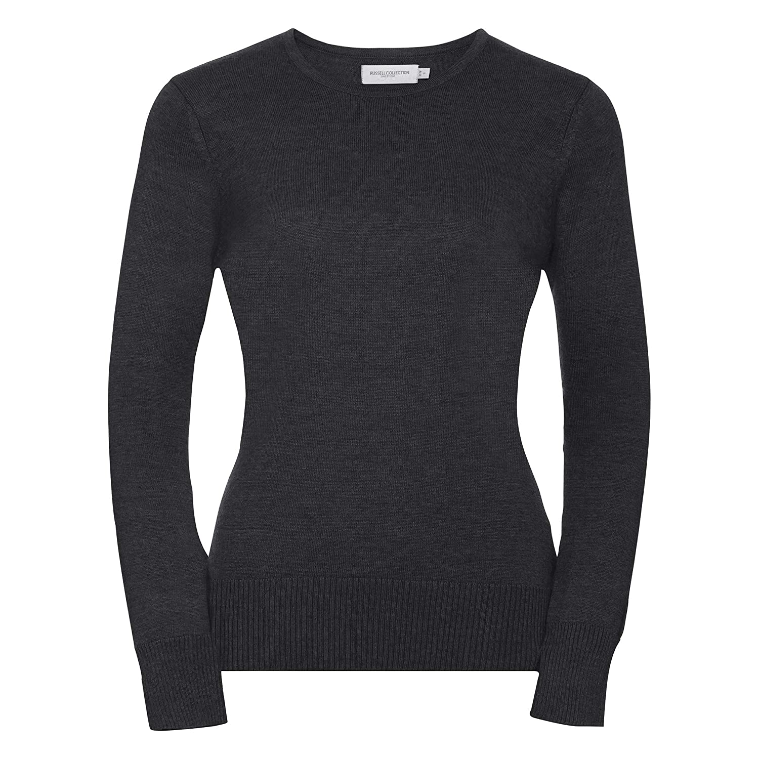 Russell Collection Womens//Ladies Crew Neck Knitted Pullover Sweatshirt