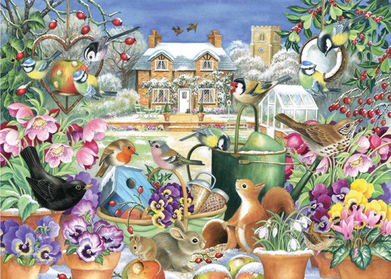 falcon de luxe winter garden jigsaw puzzle 1000 piece amazon co