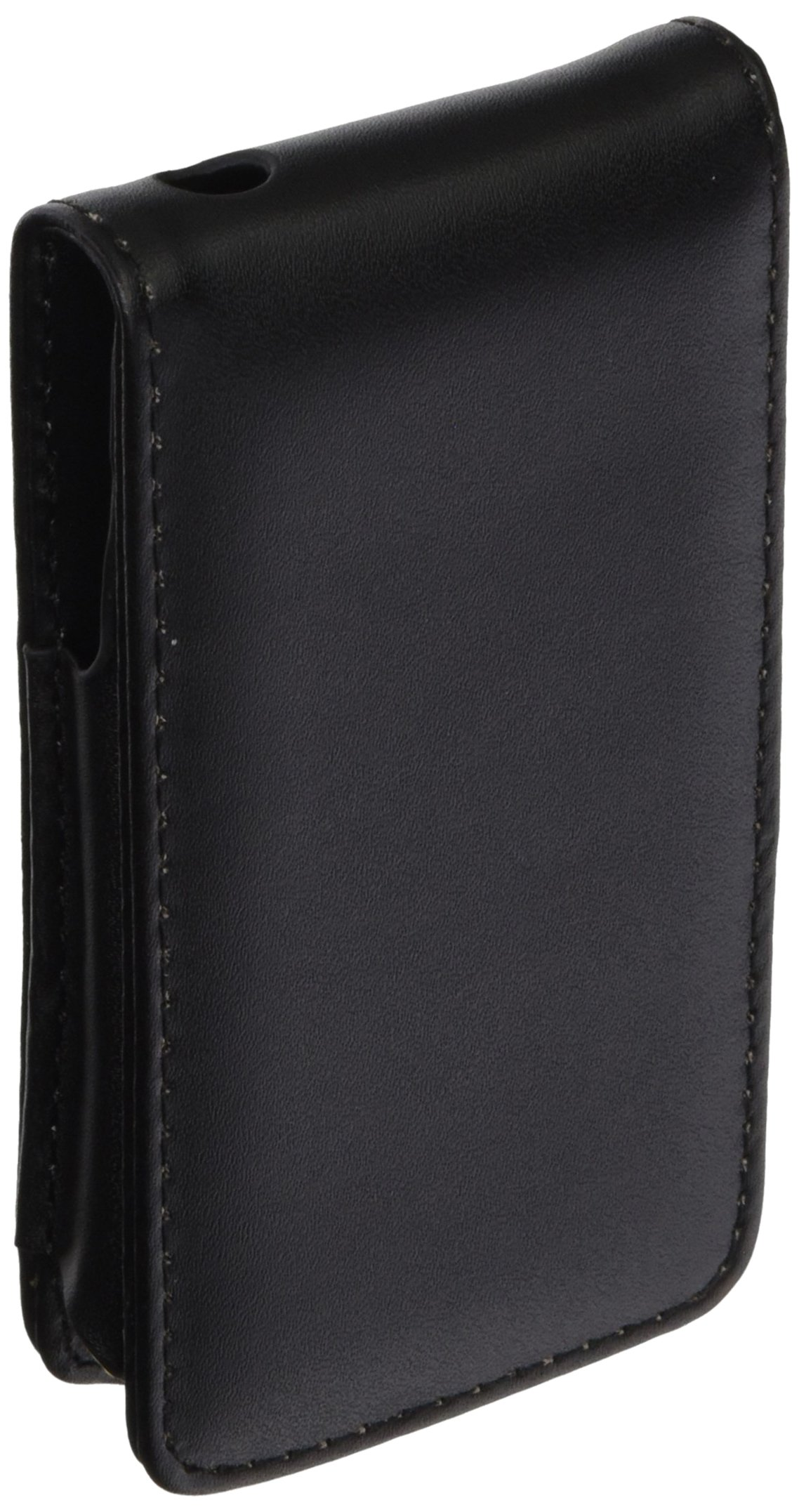 eForCityBlack Leather FLIP CASE Pouch Cover Compatible with iPhone4 4G 4TH iPhone4S - AT&T, Sprint, Version 16GB 32GB 64GB