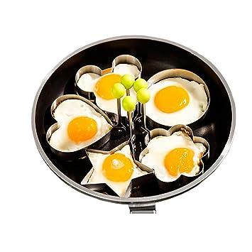 maikerry huevo anillo de huevo frito moldes 5 piezas diferentes formas de acero inoxidable cocina huevo