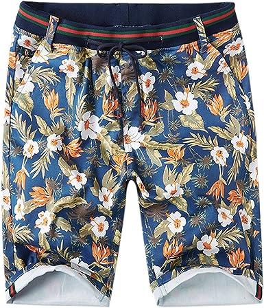 Pantalón Corto con Estampado Modernas Hombres De Casual Los Floral ...