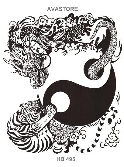 Tatuajes temporales Yin & Yang - Tatuaje efímero Yin & Yang ...