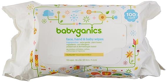 BabyGanics cara, mano toallitas bebé, sin aroma, 300 hilos (contiene tres...: Amazon.es: Salud y cuidado personal
