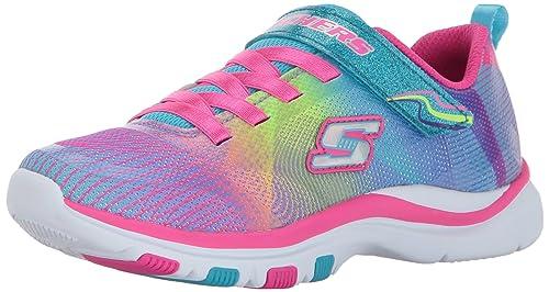 Skechers Trainer Lite-Dash N Dazzle, Zapatillas sin Cordones para Niñas: Amazon.es: Zapatos y complementos