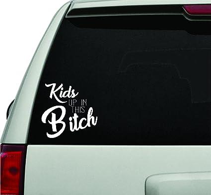 Dabbledown decals kids up in this bitch white version car window windshield lettering decal sticker decals