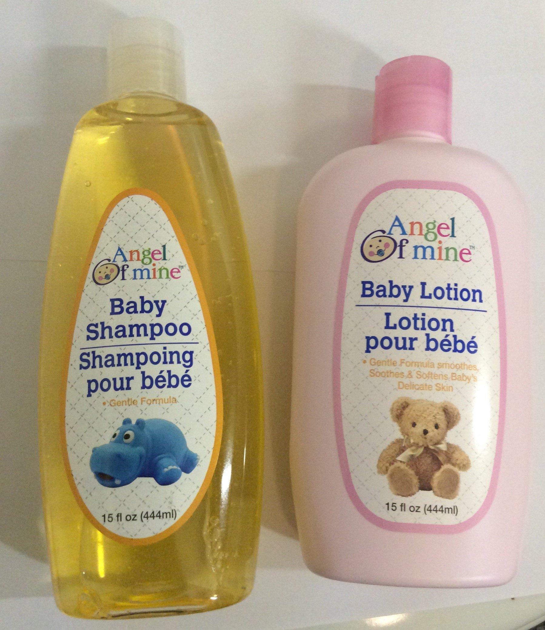 Angel of Mine Baby Shampoo and Baby Lotion 15 fl. oz.