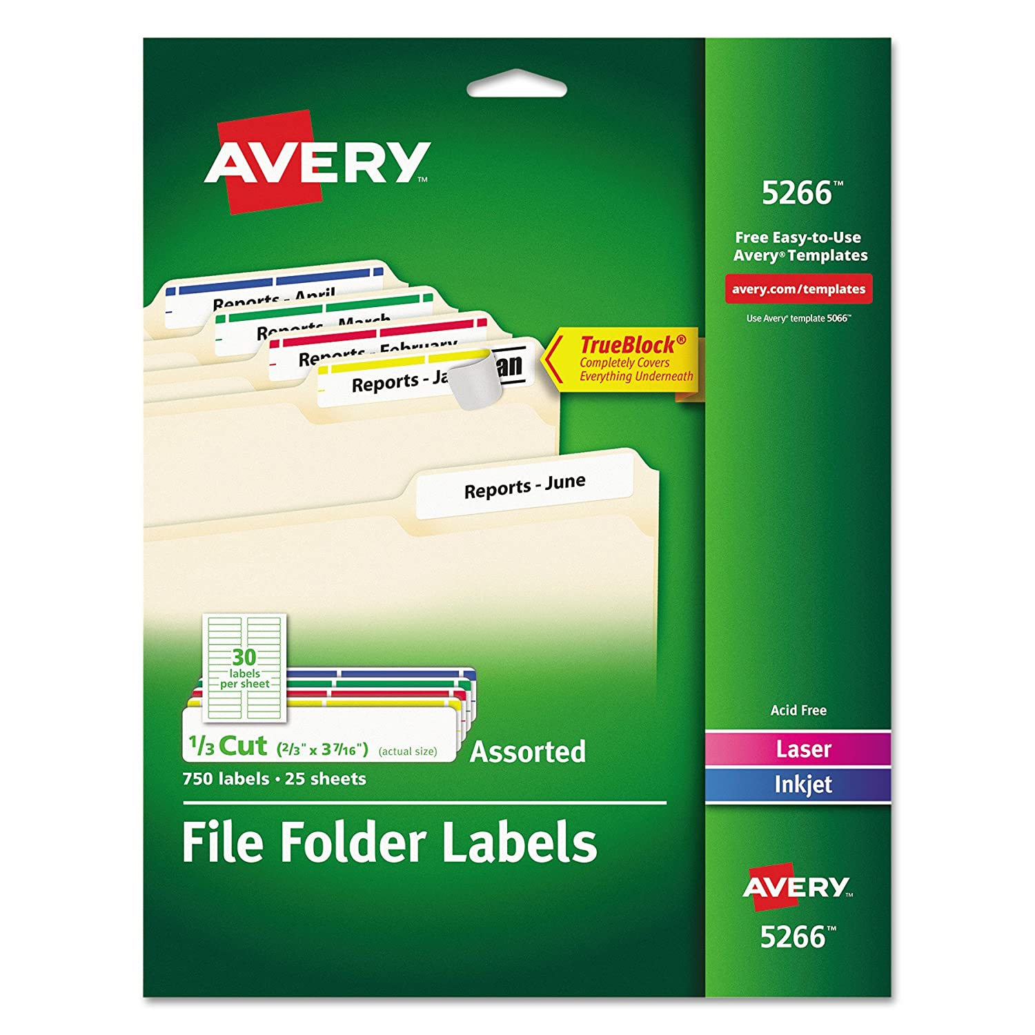 Amazon Avery File Folder Labels In Assorted Colors For Laser