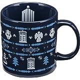 Vandor 16361 Doctor Who Ugly Sweater 20 Ounce Ceramic Mug, Blue