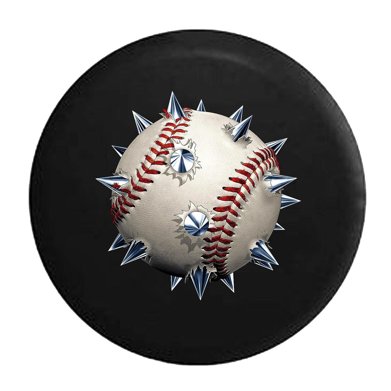 スパイク野球ソフトボールレッドStichingタイヤカバー 32 Inch ブラック Tire-V341-32_Black B073VHJR1Jブラック_フルカラー 32 Inch