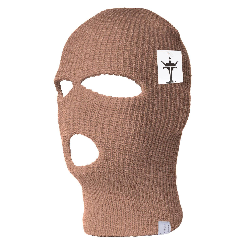 TOP HEADWEAR TopHeadwear 3-Hole Ski Face Mask Balaclava, Beige at ...
