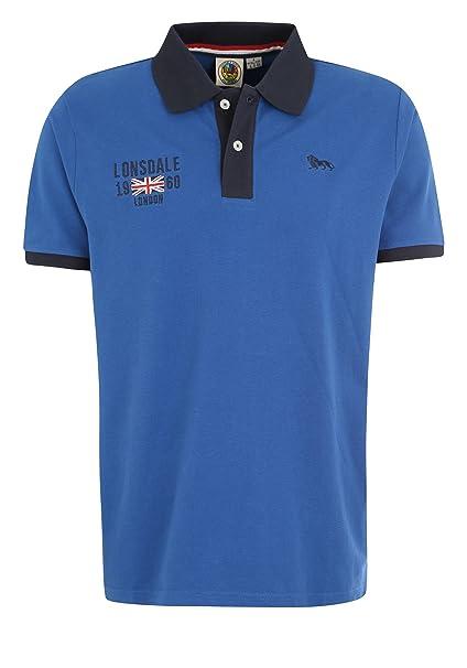 Lonsdale Men Polo Shirt Capton, Größe:2XL, Farbe:Majestic Blue ...
