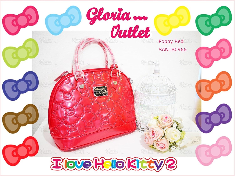 Amazon.com   Hello Kitty poppy Red Embossed Patent Bag SANTB966 Loungefly    Beauty 2c3b259d3fb8f