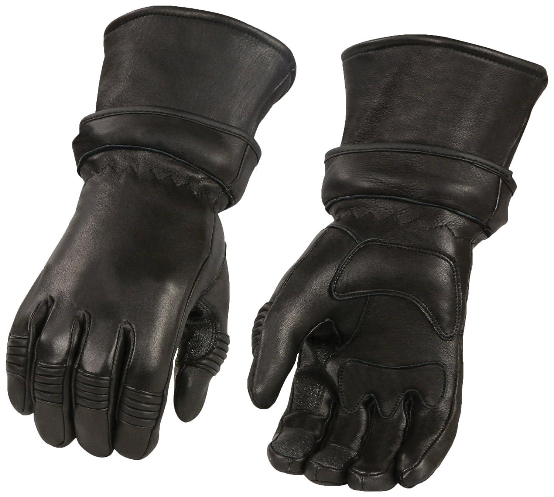 Black, XXX-Large Shaf International Mens Deer Skin Zip-Off Gauntlet Gloves