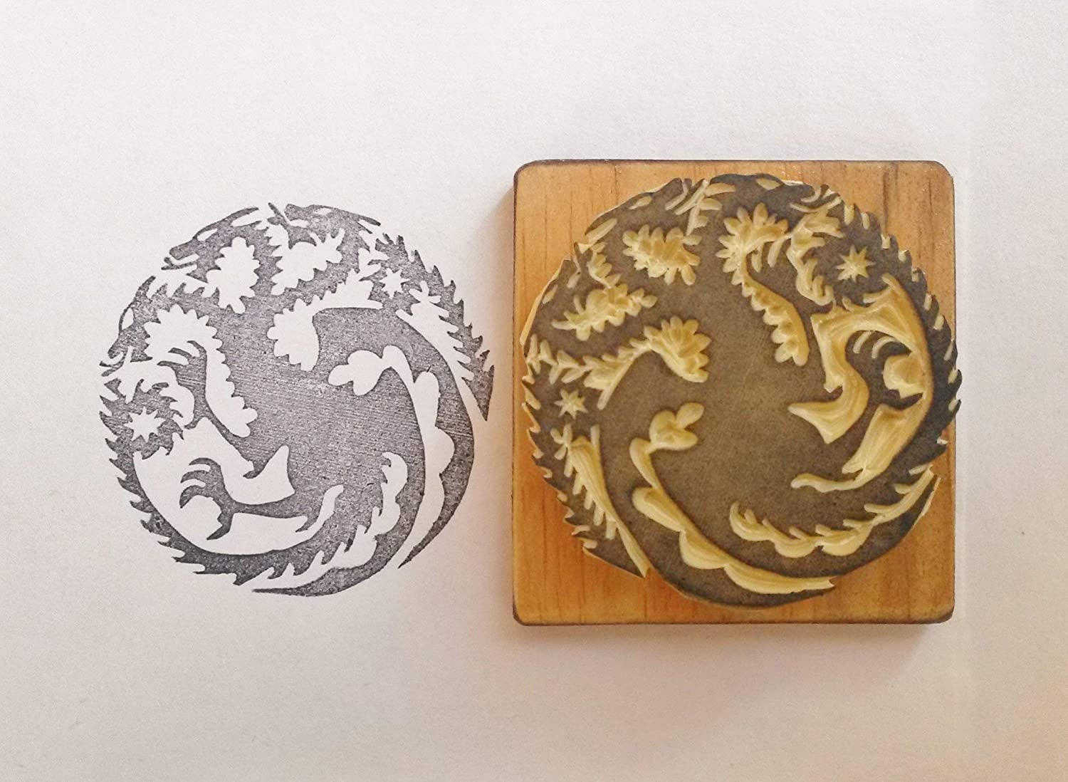Game of Thrones Inspired Hand Carved Stamp. Targaryen Sigil