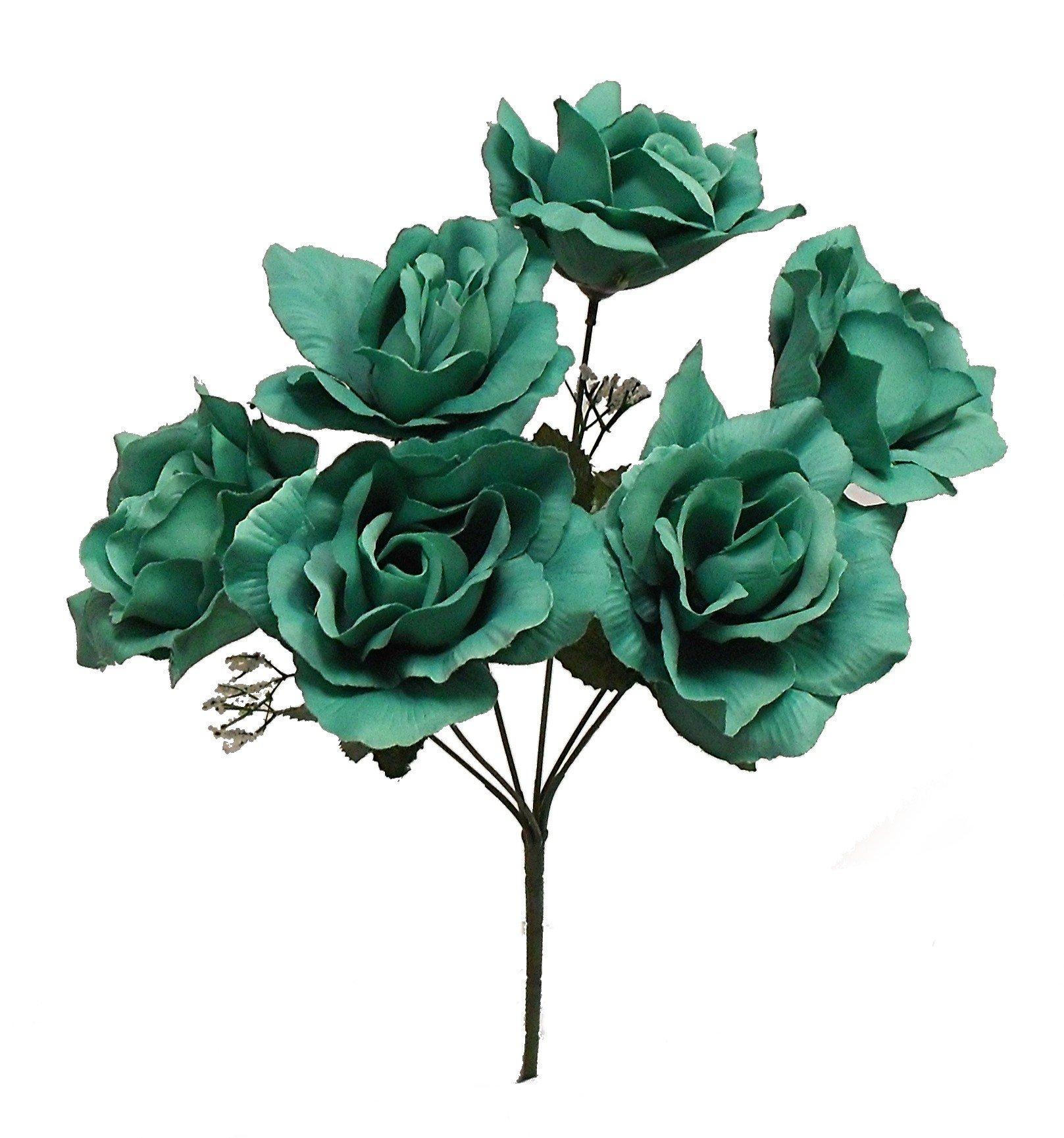 17-Soft-Touch-Micropeach-Open-Rose-Bush-Artificial-Silk-Wedding-Craft-Flowers-Home-Decor-6-Heads