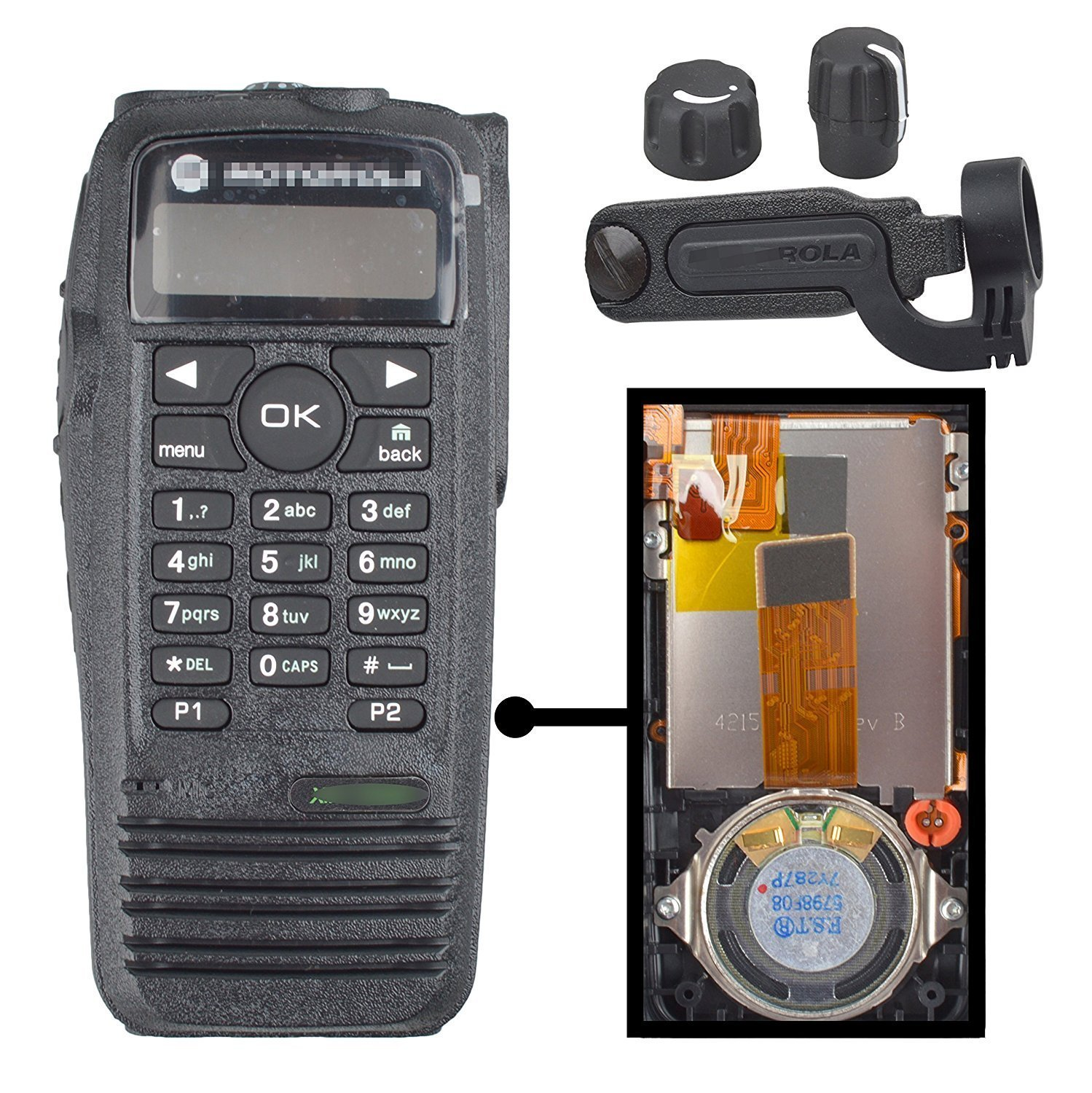 Guanshan PMLN4646 Replacement Housing & OEM Speaker for Motorola XPR6550 Radio