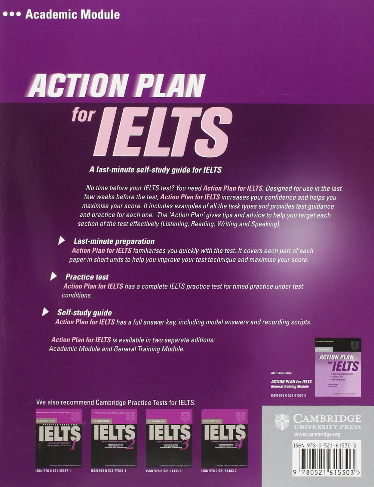 Action Plan for IELTS Academic Module Students Book