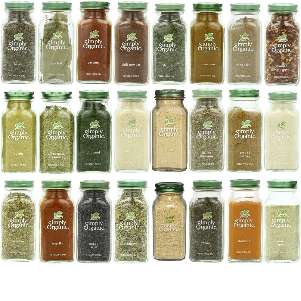 Simply Organic Gourmet Top 24 Spices Set