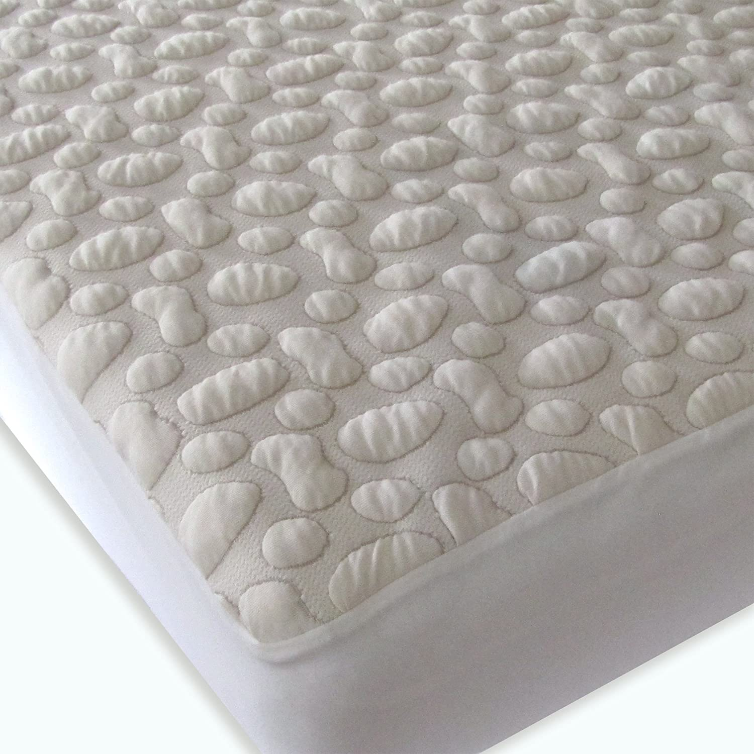 Amazon 40 Winks Organic Cotton Pebble Puff Crib Mattress Pad