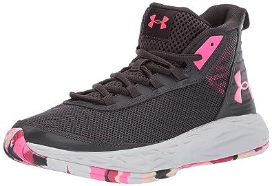Under Armour Girls Grade School 2018 Basketball Shoe, Jet Gray (100)/