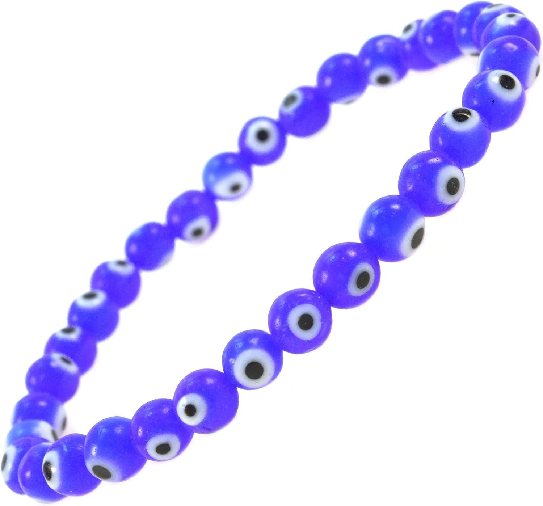 Purple String Good Luck Charm Nazar Purple Evil Eye Adult Rosary Bracelet \u2022 Protection Pulsera Mal De Ojo Handmade Jewelry