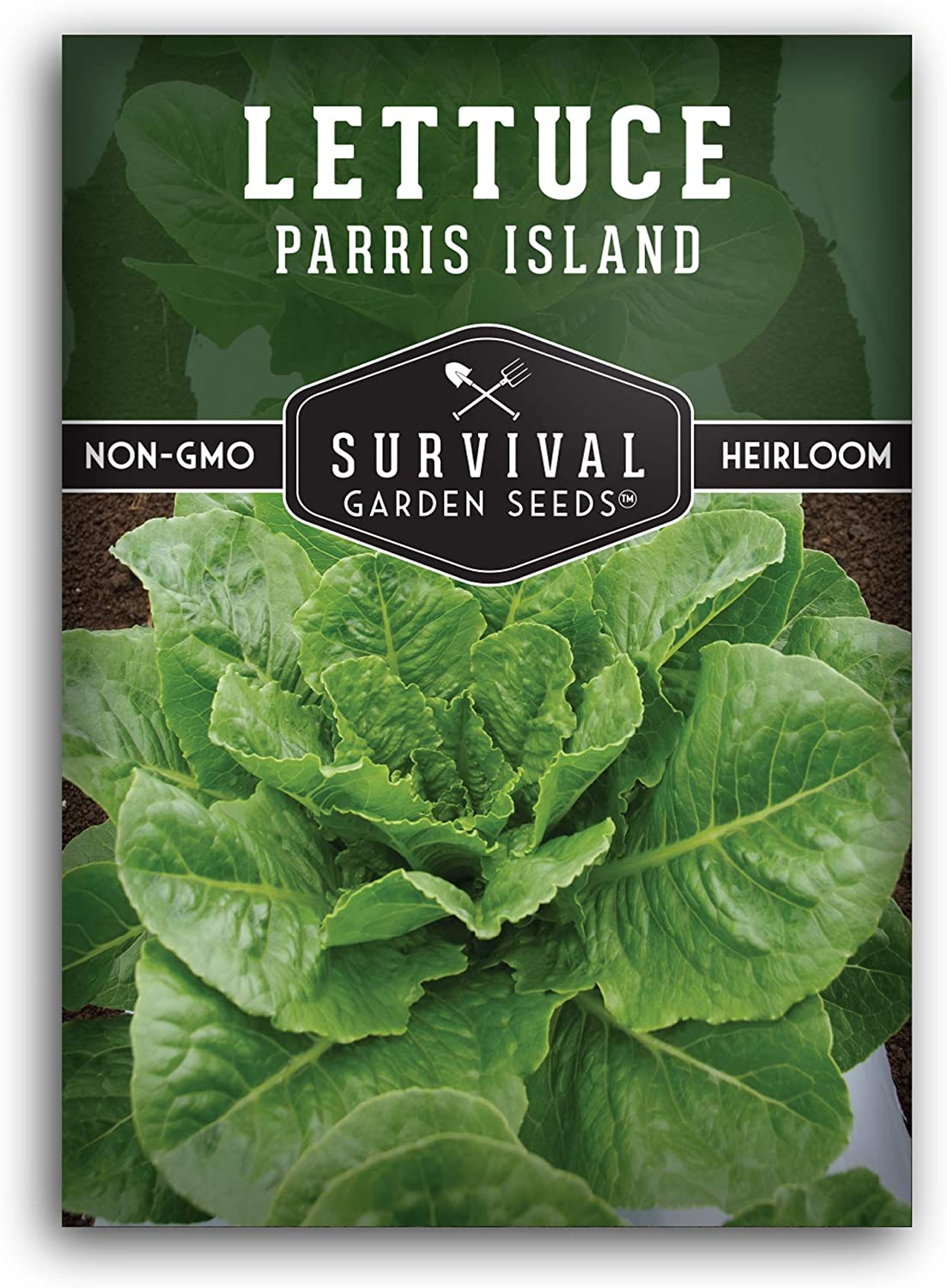 Survival Garden Seeds - Parris Island Cos Lettuce Seed for Planting - Packet with Instructions to Plant and Grow in Your Home Vegetable Garden - Non-GMO Heirloom Variety