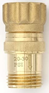 Vibrant Yard Company Lead-Free Brass 25 psi Water Pressure Regulator 3/4 inch Hose Thread Drip Irrigation System Pressure Reducer