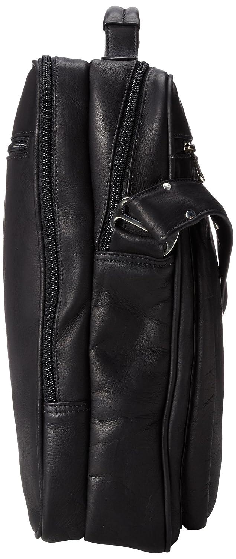 Piel Custom Personalized LAPTOP SHOULDER BAG Piel Leather CSTM-PL2818-BLK