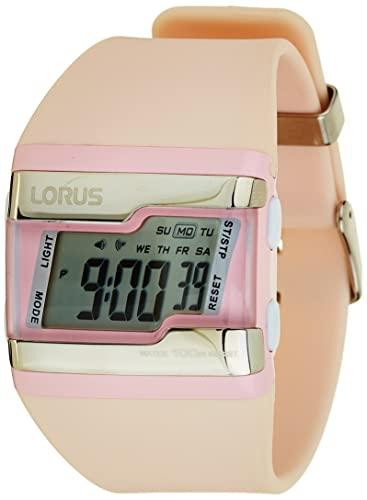 Lorus R2391EX9 - Reloj digital de cuarzo para mujer, correa de poliuretano color rosa: Amazon.es: Relojes