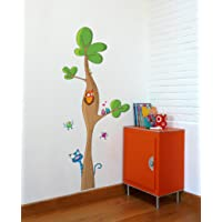 """Adzif"""" Tree Height Gauge Wall Decals, Multicolored"""