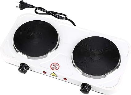 cocina eléctrica de dos fogones portatil 2000W, Placa ...