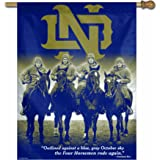 NCAA Notre Dame Fighting Irish 4-Horsemen 27-by-37 inch Vertical Flag