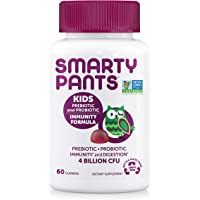 SmartyPants Kids Probiotic Formula Daily Gummy Vitamins: Gluten Free Probiotics & Prebiotics Boosting Immunity & Digestive Support*, Vegan, 4 bil CFU, Grape, 60 Count (30 Day Supply)Packaging May Vary