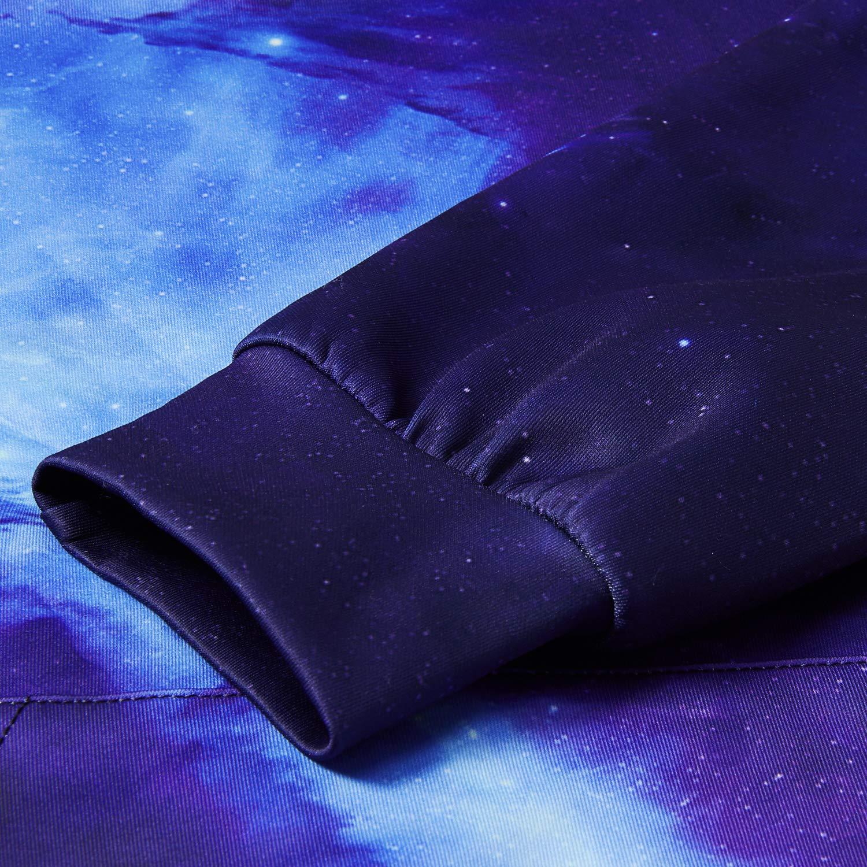 TUONROAD Unisex 3D Hoodie Bunte Herren Galaxy Pullover 3D Kapuzenpullover Langarm Sweatshirts für Herren und Damen XXL/XXXL