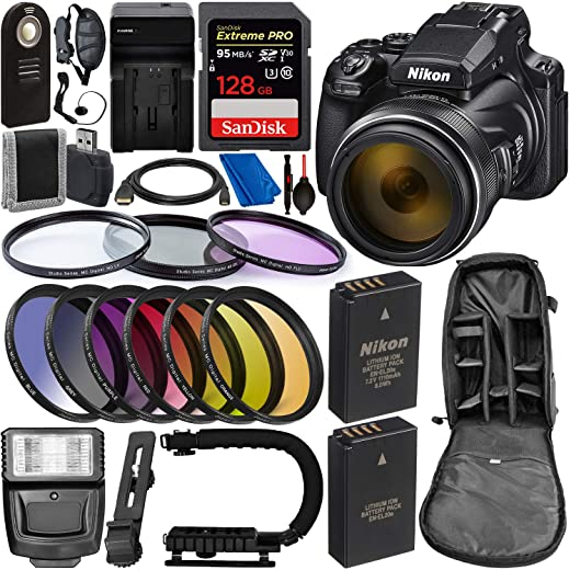 Nikon COOLPIX P1000 Digital Camera with Deluxe Accessory Bundle - Includes: SanDisk...
