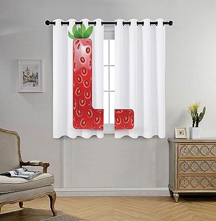 Amazon Com Iprint Stylish Window Curtains Letter L Juicy Ripe