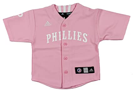 Amazon.com   adidas MLB Philadelphia Phillies Girls Pink Jersey ... 001bb7c88