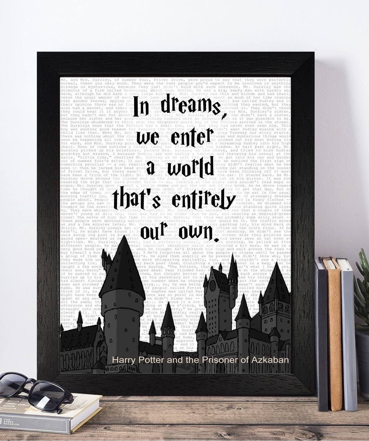 vintage harry potter quotes unframed print poster christmas xmas
