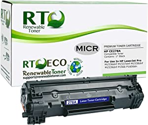 Renewable Toner Compatible MICR Toner Cartridge Replacement HP CE278A 78A Canon CRG-128 3500B001AA for LaserJet M1536dnf