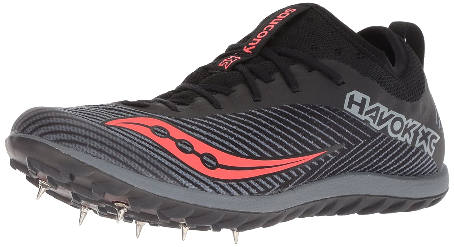 Saucony Women's Havok Xc2 Track Shoe B076T9RWTR 5 B(M) US|Black/Grey/Vizired